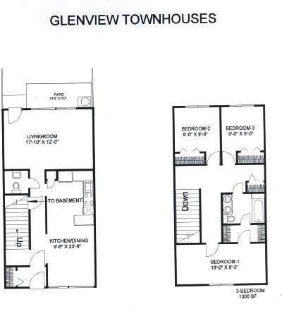 Three Bedrooms Glenview Townhomes